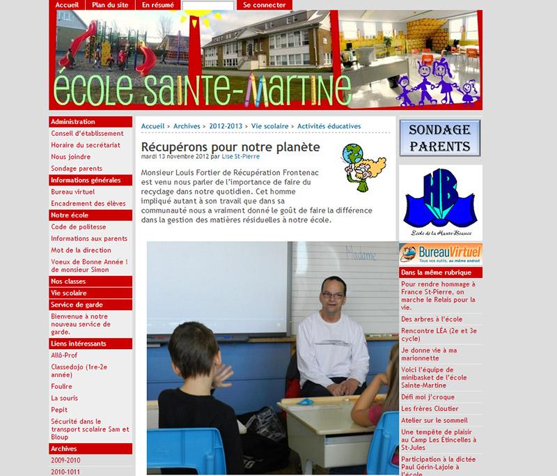 École Sainte-Martine - Projets éducatifs