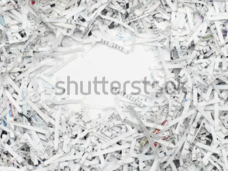 Destruction de documents confidentiels.